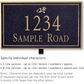 Salsbury 1411BGDS Signature Series Address Plaque
