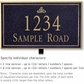 Salsbury 1411BGIL Signature Series Address Plaque