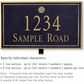 Salsbury 1411BGSL Signature Series Address Plaque