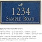 Salsbury 1411CGDS Signature Series Address Plaque