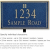 Salsbury 1411CGGL Signature Series Address Plaque
