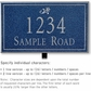 Salsbury 1411CSDL Signature Series Address Plaque
