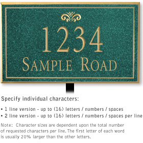 Salsbury 1411JGFL Signature Series Address Plaque