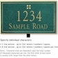 Salsbury 1411JGGL Signature Series Address Plaque