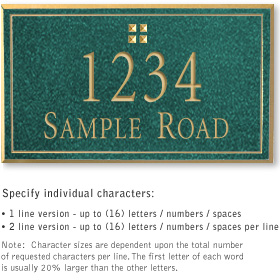 Salsbury 1411JGGS Signature Series Address Plaque