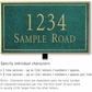 Salsbury 1411JGNL Signature Series Address Plaque