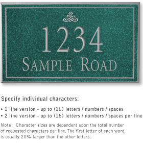 Salsbury 1411JSIS Signature Series Address Plaque