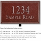 Salsbury 1411MSNL Signature Series Address Plaque