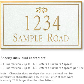 Salsbury 1411WGFS Signature Series Address Plaque