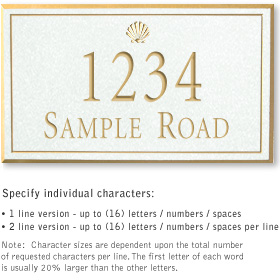 Salsbury 1411WGSS Signature Series Address Plaque