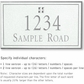 Salsbury 1411WSGS Signature Series Address Plaque