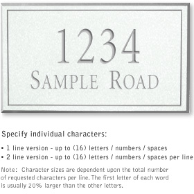 Salsbury 1411WSNS Signature Series Address Plaque