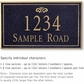 Salsbury 1410BGFS Signature Series Address Plaque