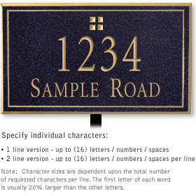 Salsbury 1410BGGL Signature Series Address Plaque
