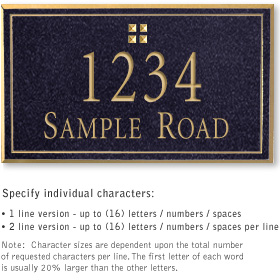 Salsbury 1410BGGS Signature Series Address Plaque