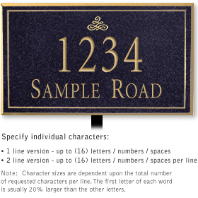 Salsbury 1410BGIL Signature Series Address Plaque