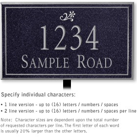 Salsbury 1410BSDL Signature Series Address Plaque