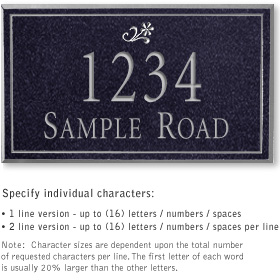 Salsbury 1410BSDS Signature Series Address Plaque