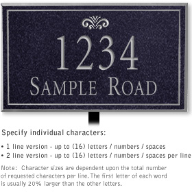 Salsbury 1410BSFL Signature Series Address Plaque