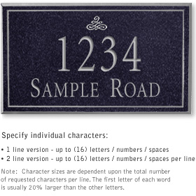 Salsbury 1410BSIS Signature Series Address Plaque