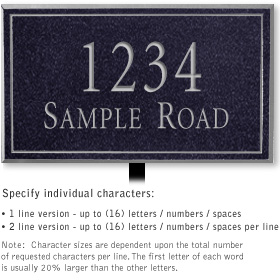 Salsbury 1410BSNL Signature Series Address Plaque