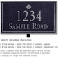 Salsbury 1410BSSL Signature Series Address Plaque
