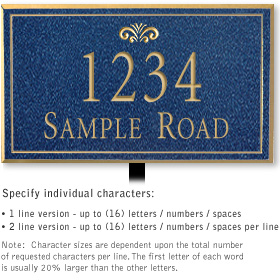 Salsbury 1410CGFL Signature Series Address Plaque