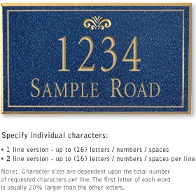 Salsbury 1410CGFS Signature Series Address Plaque