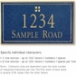 Salsbury 1410CGGS Signature Series Address Plaque