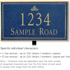Salsbury 1410CGIL Signature Series Address Plaque