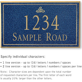 Salsbury 1410CGIS Signature Series Address Plaque