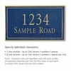 Salsbury 1410CGNS Signature Series Address Plaque
