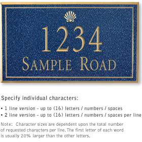 Salsbury 1410CGSS Signature Series Address Plaque