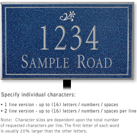 Salsbury 1410CSDL Signature Series Address Plaque