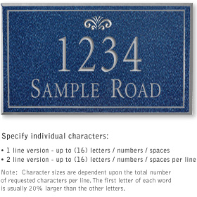Salsbury 1410CSFS Signature Series Address Plaque
