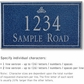 Salsbury 1410CSIS Signature Series Address Plaque