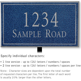 Salsbury 1410CSNL Signature Series Address Plaque