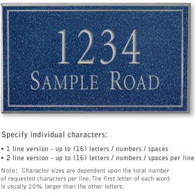Salsbury 1410CSNS Signature Series Address Plaque