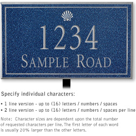 Salsbury 1410CSSL Signature Series Address Plaque