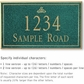 Salsbury 1410JGIS Signature Series Address Plaque