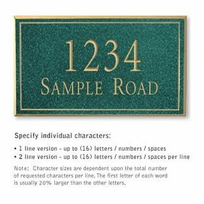 Salsbury 1410JGNS Signature Series Address Plaque