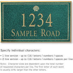 Salsbury 1410JGSS Signature Series Address Plaque