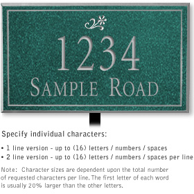Salsbury 1410JSDL Signature Series Address Plaque