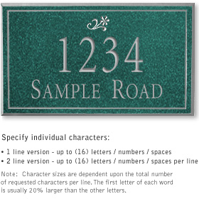 Salsbury 1410JSDS Signature Series Address Plaque