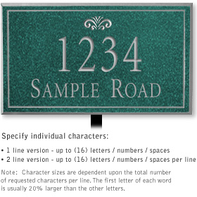 Salsbury 1410JSFL Signature Series Address Plaque