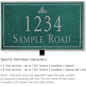Salsbury 1410JSIL Signature Series Address Plaque
