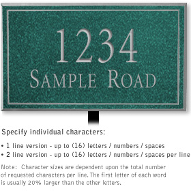 Salsbury 1410JSNL Signature Series Address Plaque