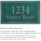 Salsbury 1410JSNS Signature Series Address Plaque