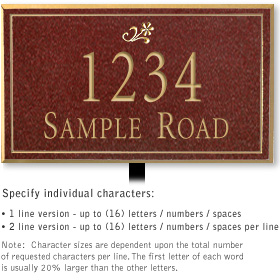 Salsbury 1410MGDL Signature Series Address Plaque