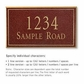 Salsbury 1410MGNS Signature Series Address Plaque